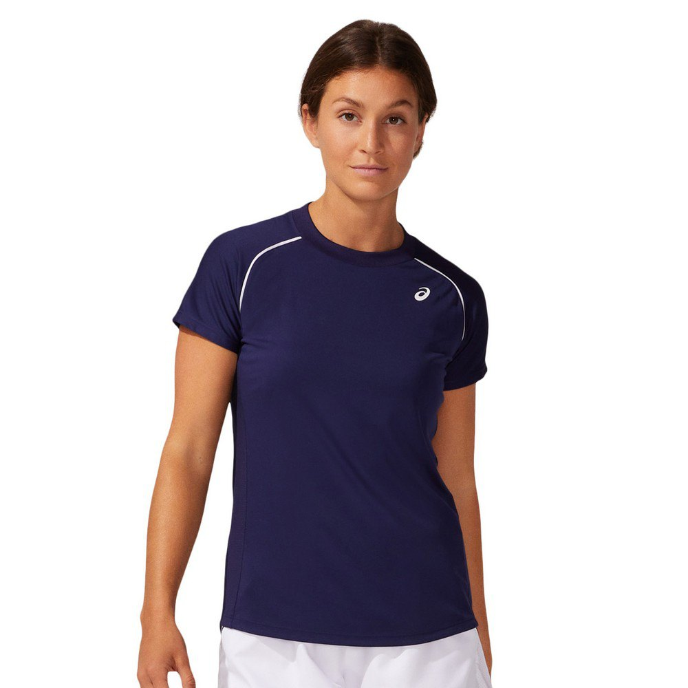 Asics T-shirt Manche Courte Court Piping L Peacoat