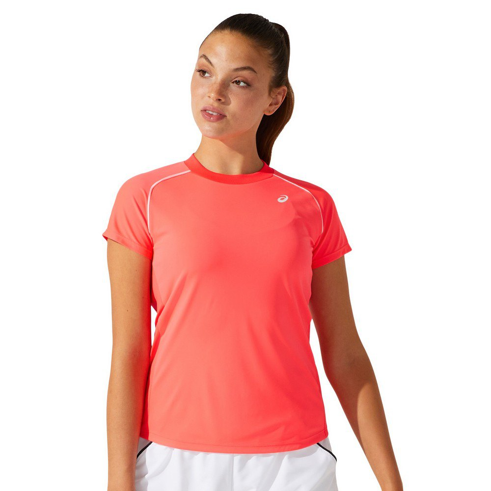 Asics T-shirt Manche Courte Court Piping L Diva Pink