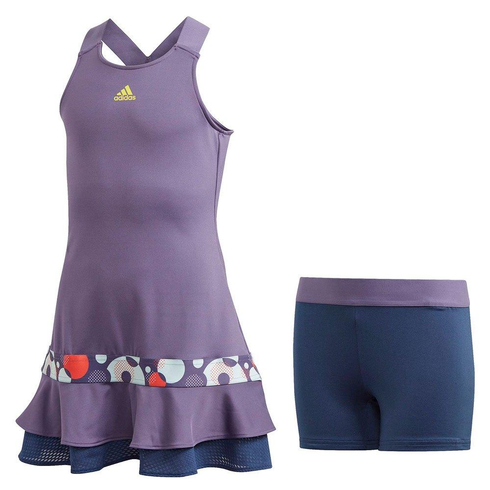Adidas Robe Courte Frill 152 cm Tech Purple / Shock Yellow