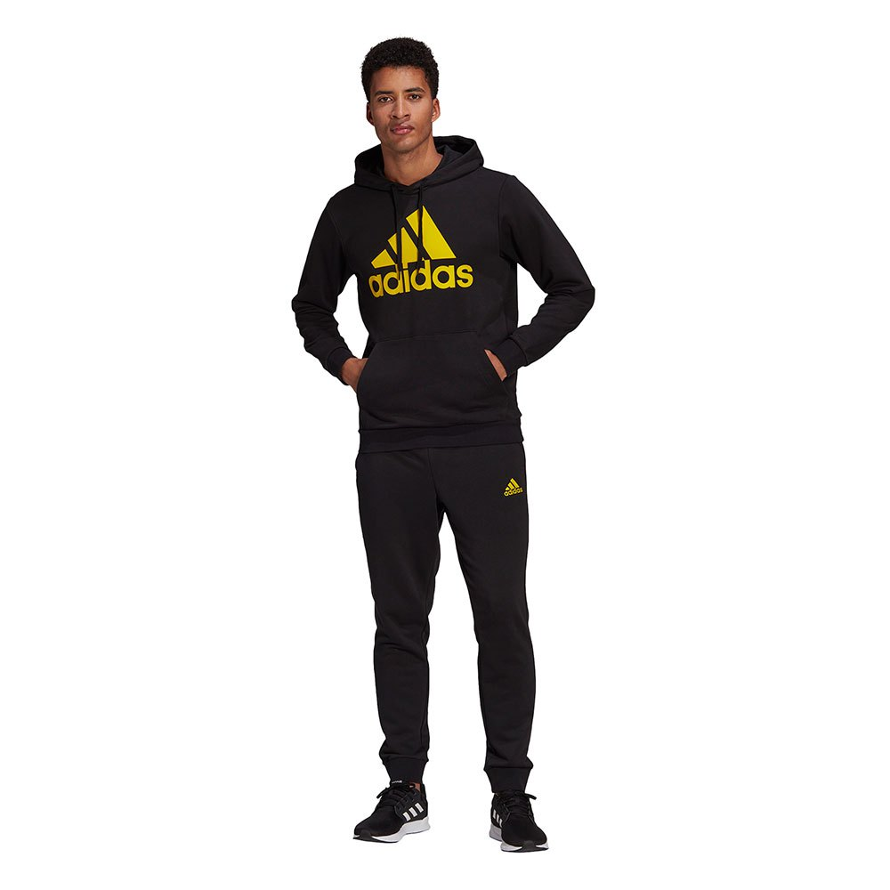 Adidas Aeroready Essentials Kangaroo Poche Grand Logo 216 Black / Yellow / Black / Yellow