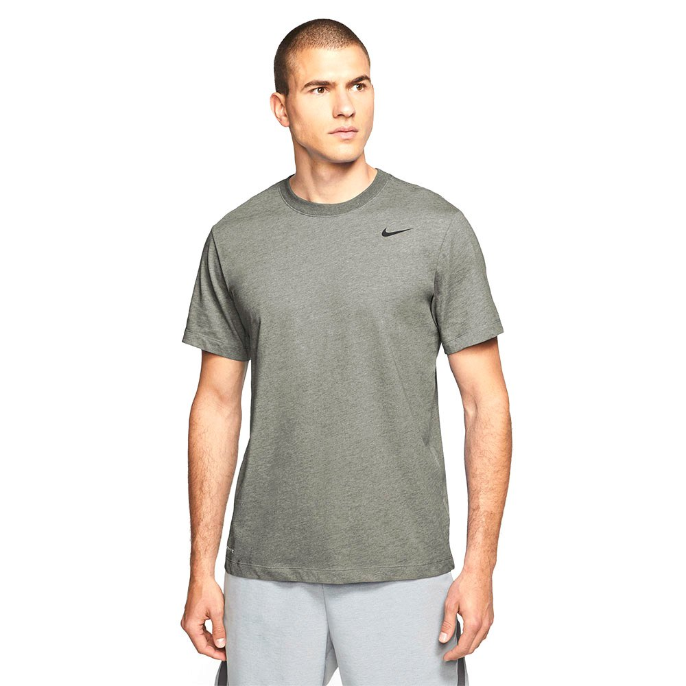 Nike T-shirt Manche Courte Dri Fit Crew Solid S Light Army / Black