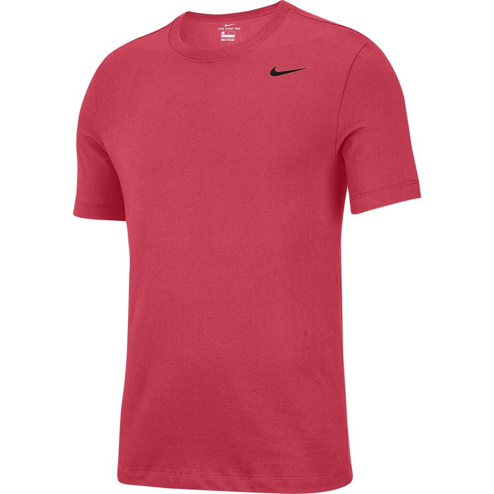 Nike T-shirt Manche Courte Dri Fit Crew Solid XL Light Fusion Red / Black