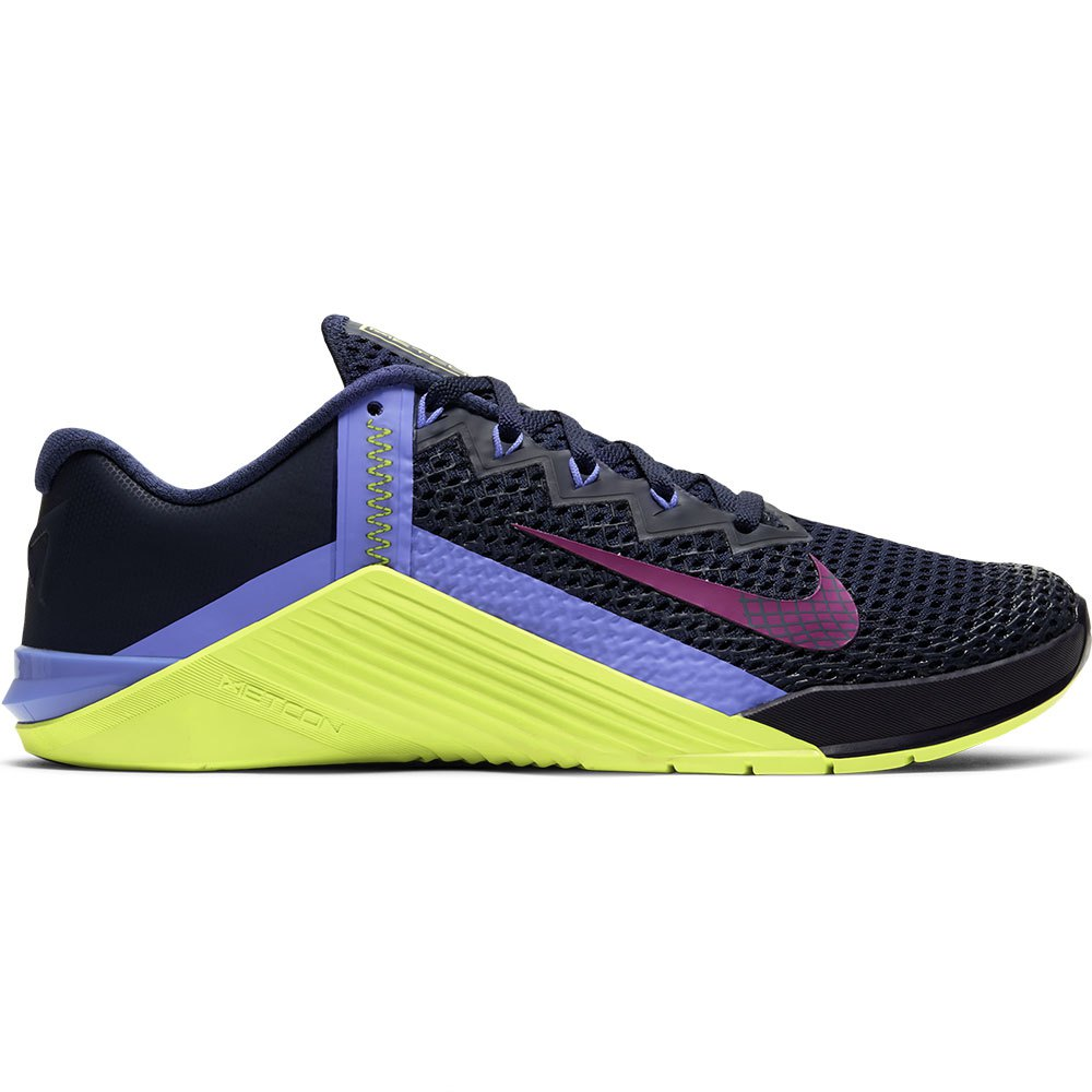 Nike Metcon 6 EU 42 1/2 Blackened Blue / Red Plum / Cyber / Sapphire