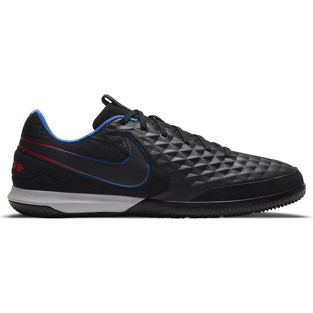 Nike Chaussures Football Salle Tiempo Legend Viii Academy Ic EU 36 1/2 Black / Black / Siren Red / Light Photo Blue