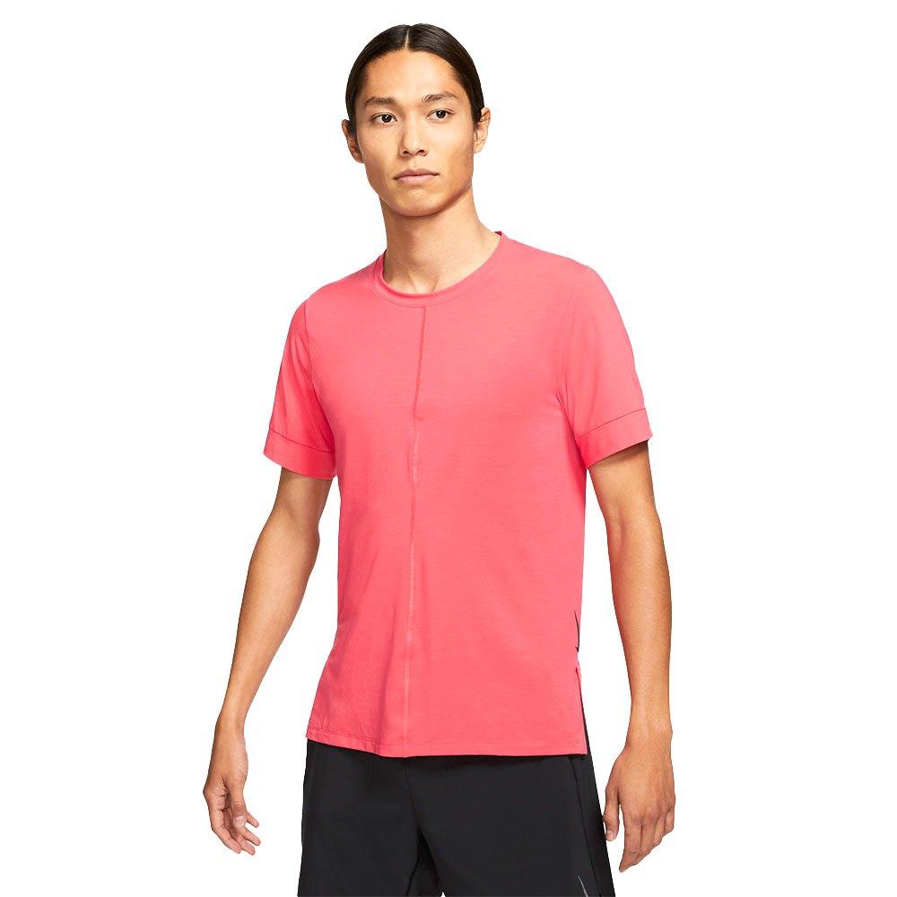 Nike T-shirt Manche Courte Dri Fit Yoga L Light Fusion Red / Black