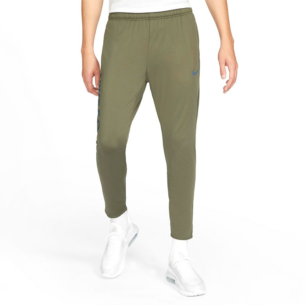 Nike Dri Fit Fc Essential L Medium Olive / Thunder Blue / Thunder Blue