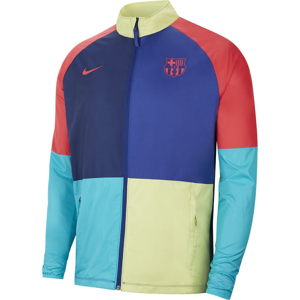 Nike Blouson Fc Barcelona Dri Fit Repel Academy All Weather 20/21 L Deep Royal Blue / Blue Void / Light Fusion Red