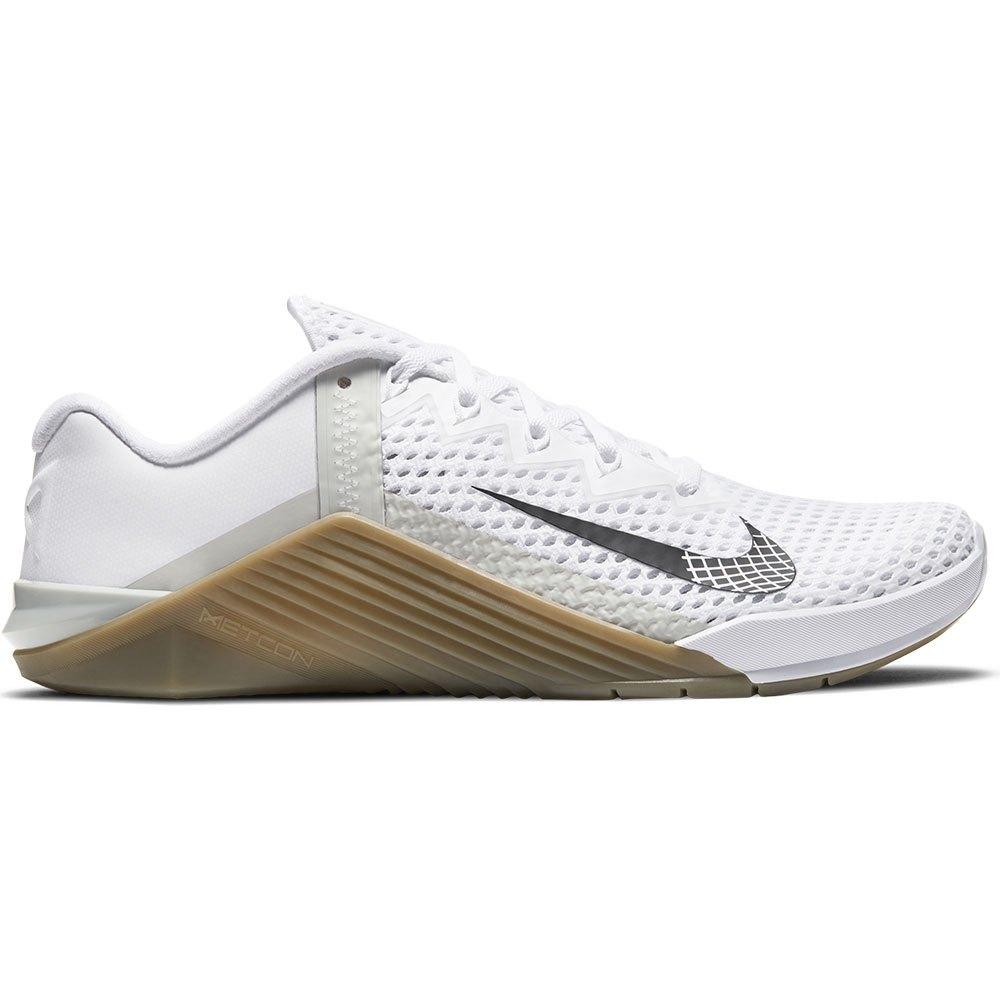 Nike Metcon 6 EU 44 White / Black / Gum Dark Brown / Grey Fog