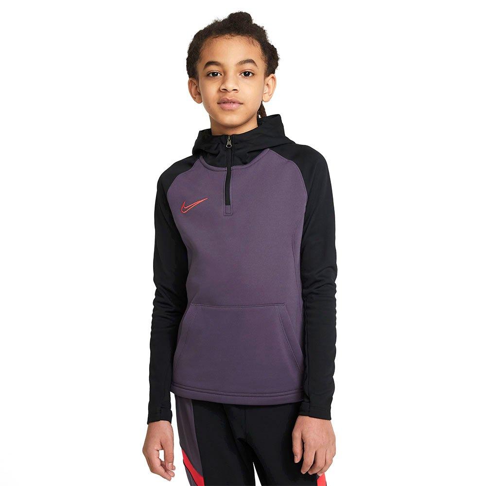 Nike Sweat À Capuche Dri Fit Academy Drill S Dark Raisin / Black / Siren Red / Siren Red