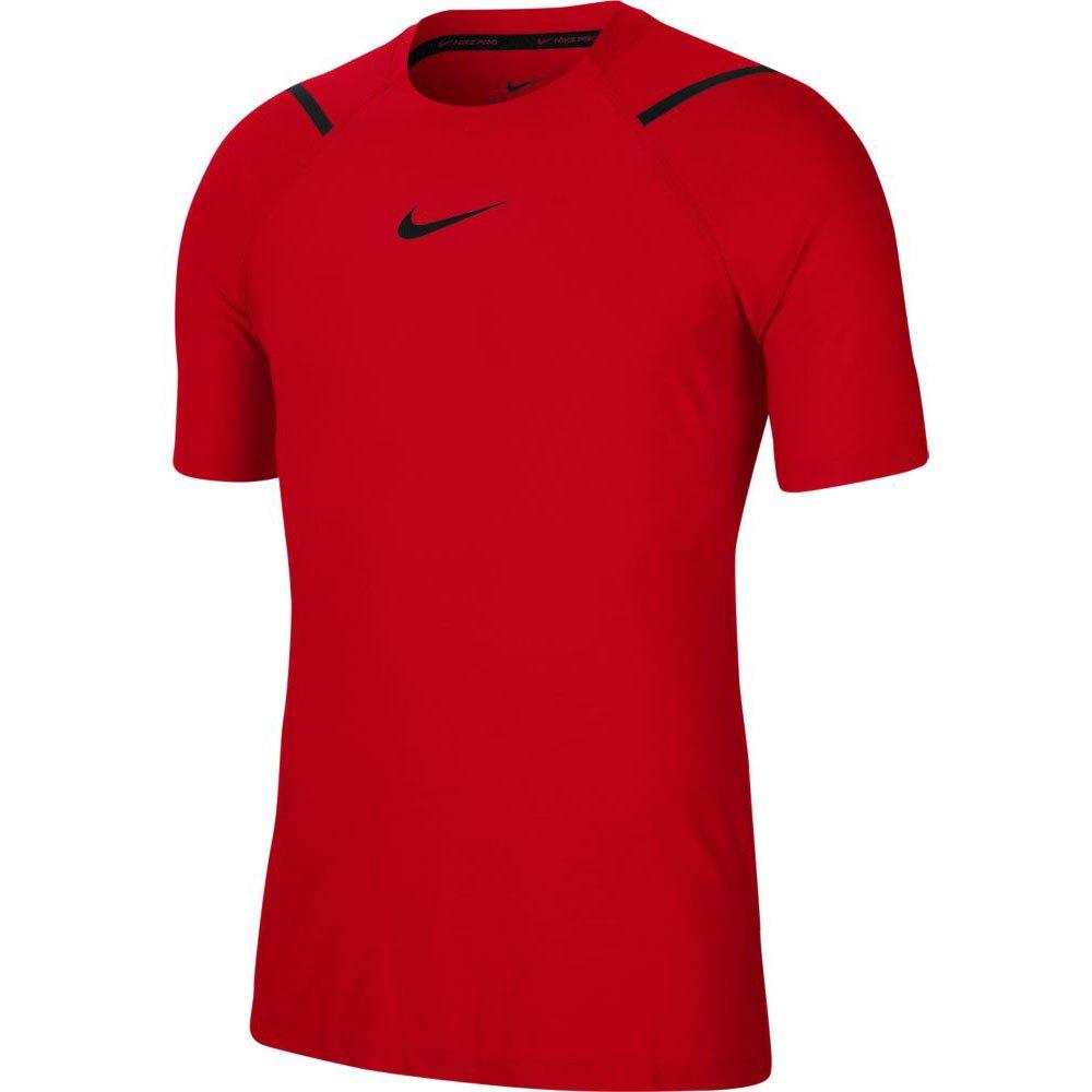 Nike T-shirt Manche Courte Pro L University Red / Heather / Black