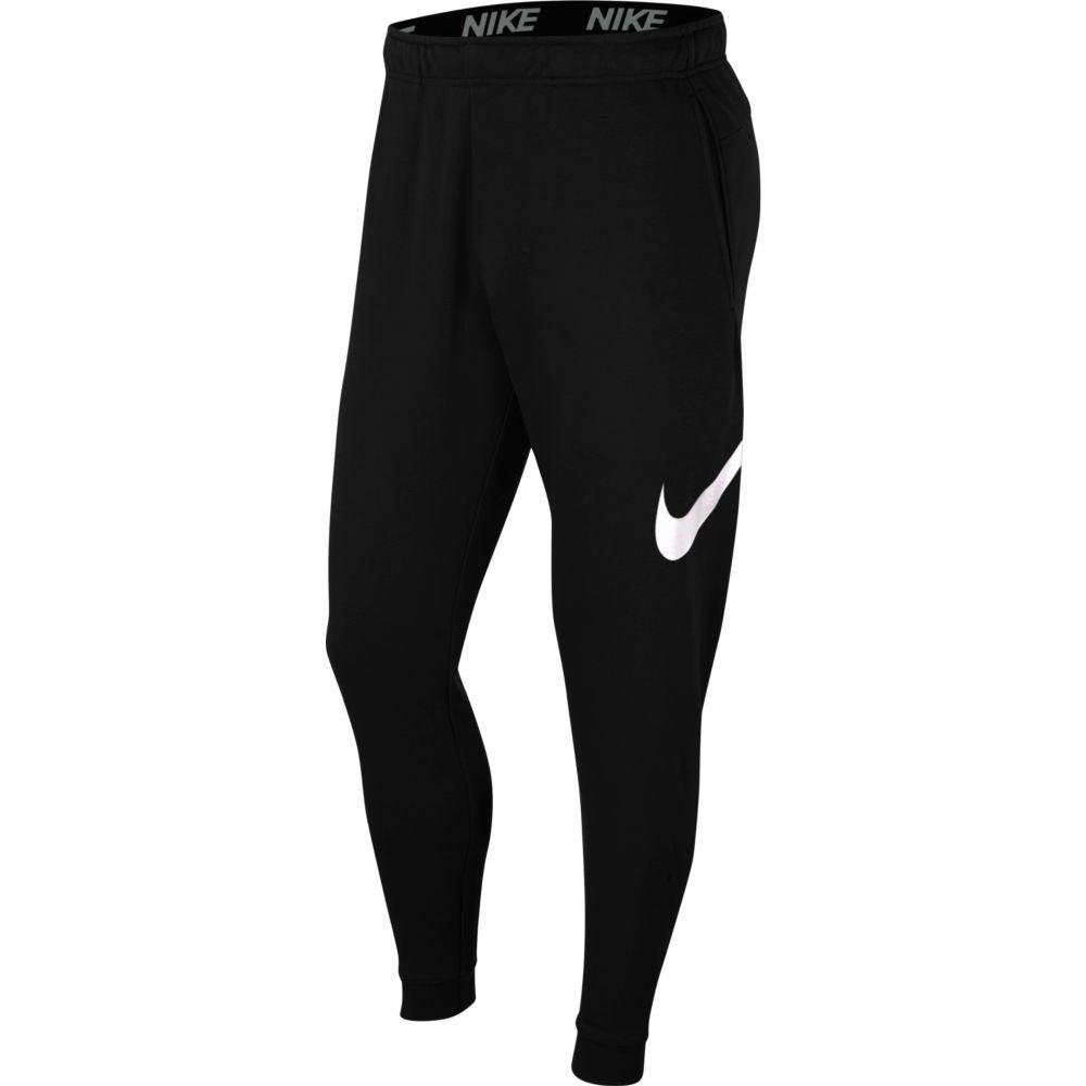 Nike Pantalon Longue Dri-fit Swoosh Tapered L Black / White