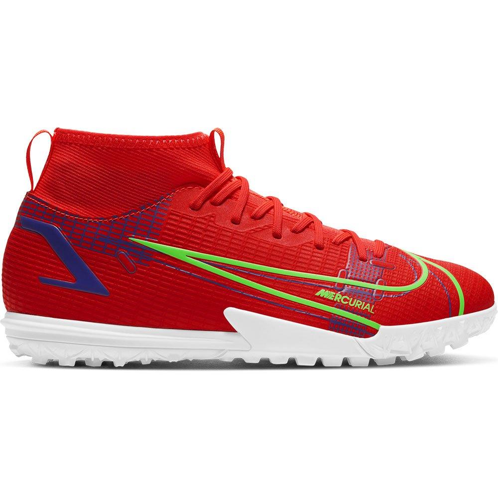 Nike Chaussures Football Mercurial Superfly Viii Academy Tf EU 34 Bright Crimson / Metallic Silver