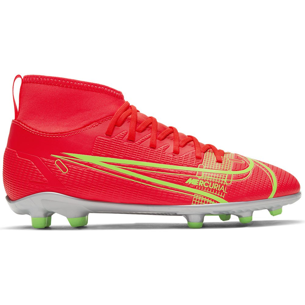 Nike Chaussures Football Mercurial Superfly Viii Club Fg/mg EU 36 Bright Crimson / Metallic Silver