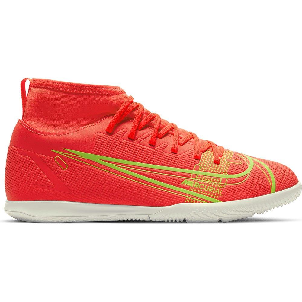 Nike Chaussures Football Salle Mercurial Superfly Viii Club Ic EU 33 Bright Crimson / Metallic Silver