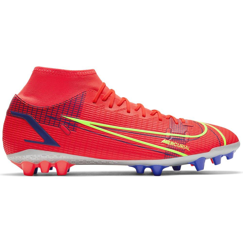 Nike Mercurial Superfly Viii Academy Ag Football Boots EU 42 Bright Crimson / Metallic Silver