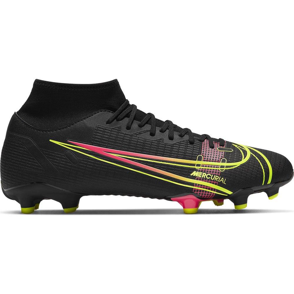 Nike Mercurial Superfly Viii Academy Fg/mg Football Boots EU 44 Black / Cyber / Off Noir