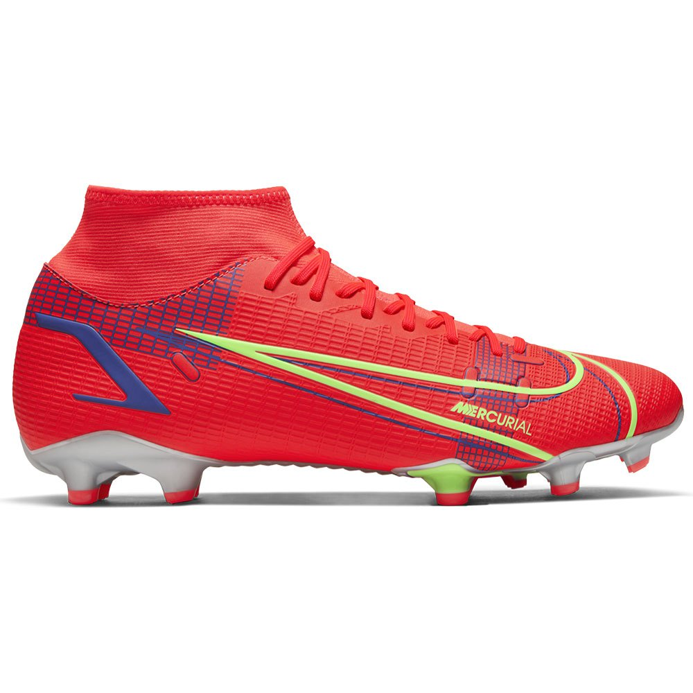 Nike Chaussures Football Mercurial Superfly Viii Academy Fg/mg EU 44 Bright Crimson / Metallic Silver