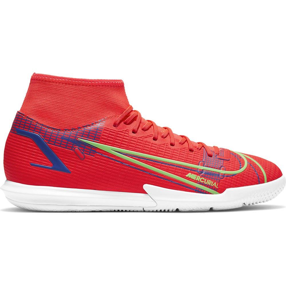Nike Chaussures Football Salle Mercurial Superfly Viii Academy Ic EU 42 1/2 Bright Crimson / Metallic Silver