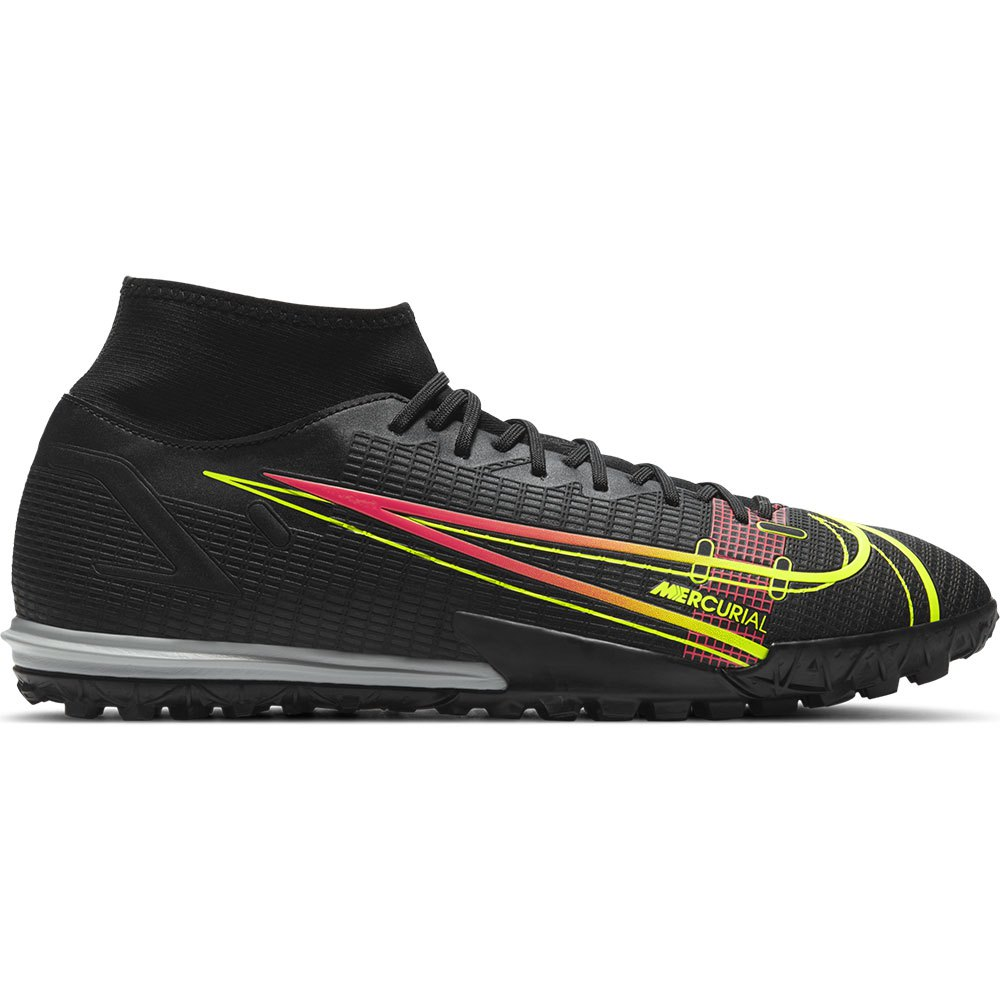 Nike Chaussures Football Mercurial Superfly Viii Academy Tf EU 42 Black / Cyber / Off Noir