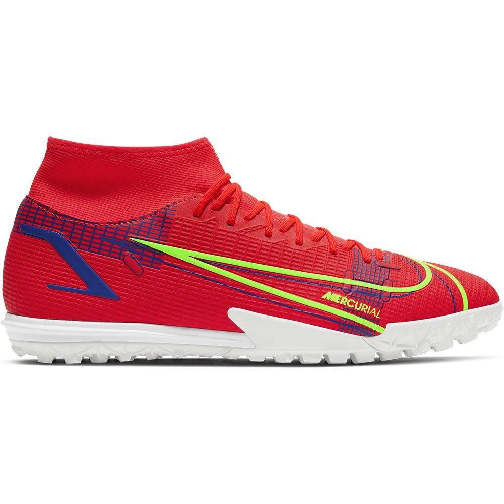 Nike Chaussures Football Mercurial Superfly Viii Academy Tf EU 44 Bright Crimson / Metallic Silver