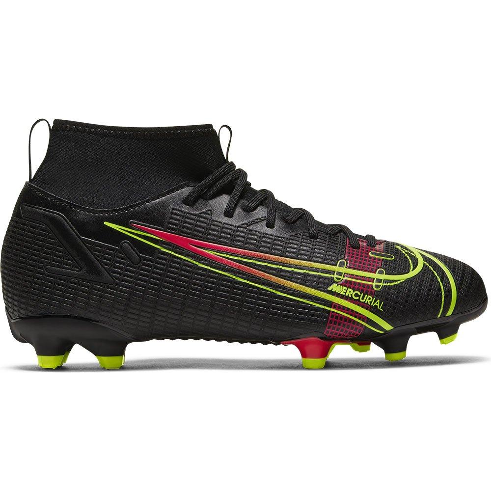 Nike Chaussures Football Mercurial Superfly Viii Academy Fg/mg EU 35 Black / Cyber / Off Noir
