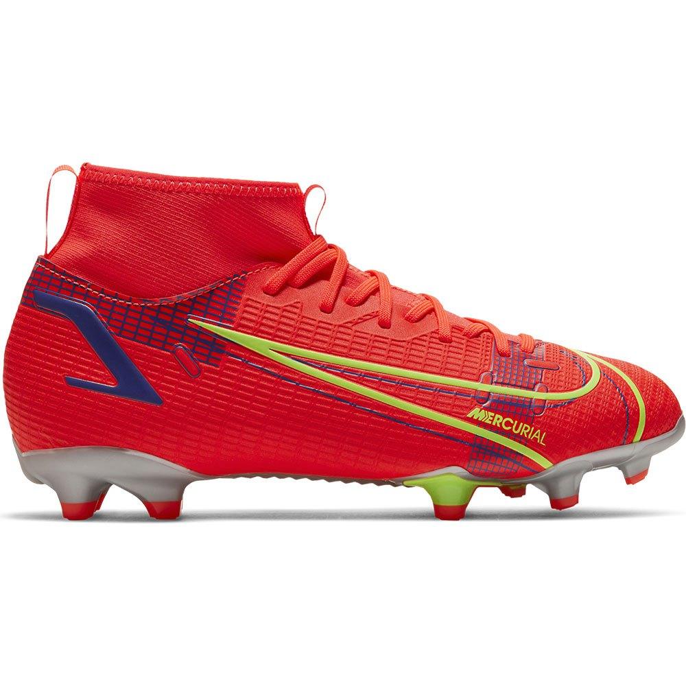 Nike Chaussures Football Mercurial Superfly Viii Academy Fg/mg EU 36 1/2 Bright Crimson / Metallic Silver
