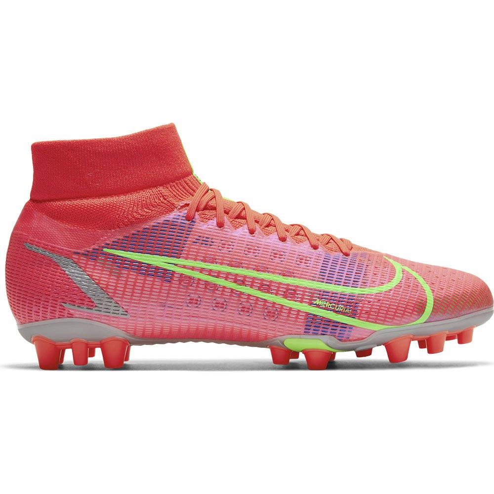 Nike Mercurial Superfly Viii Pro Ag Football Boots EU 44 Bright Crimson / Metallic Silver