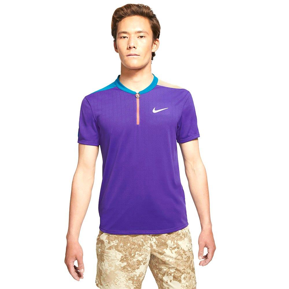Nike Polo Manche Courte Court Breathe Slam Melbourne S Court Purple / Green Abyss / White