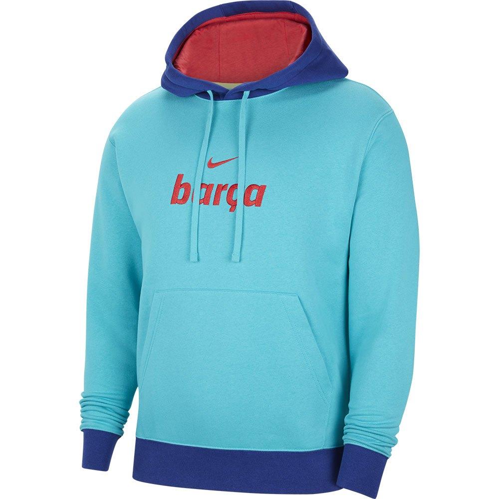 Nike Fc Barcelona Sportswear Club 20/21 L Oracle Aqua / Light Fusion Red