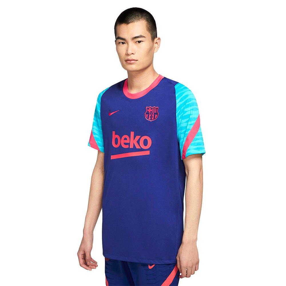 Nike T-shirt Fc Barcelona Breathe Strike 20/21 L Deep Royal Blue / Light Fusion Red