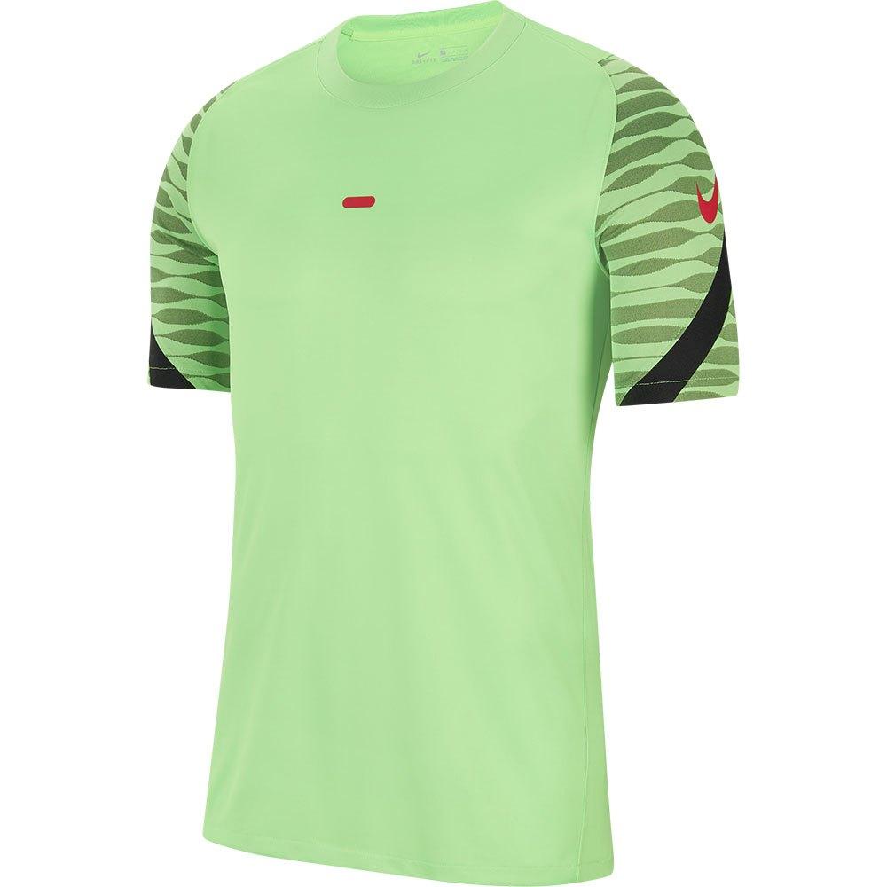 Nike Dri Fit Strike Short Sleeve T-shirt L Green Strike / Black / Black / Siren Red