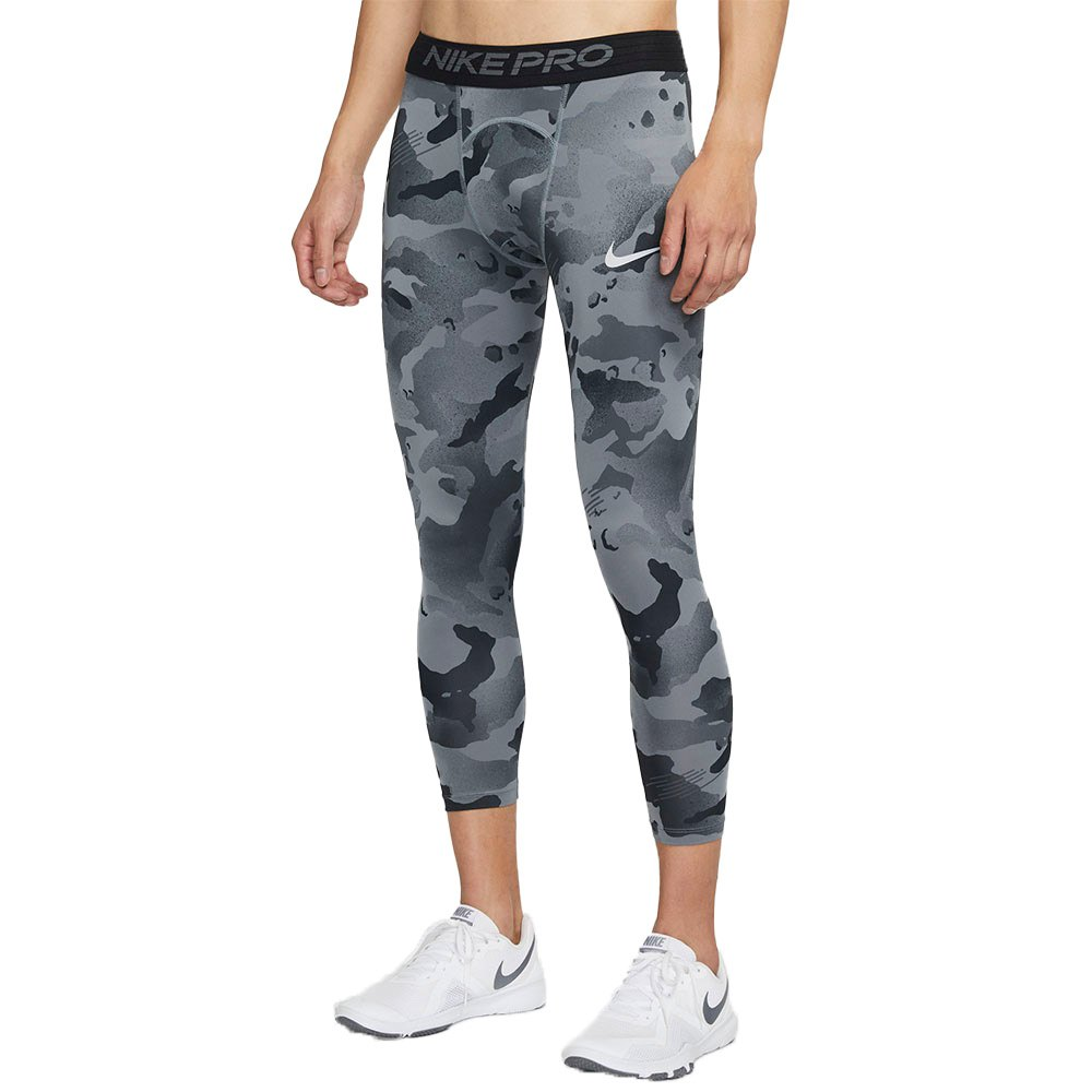 Nike Pro All Over Print L Smoke Grey / Grey Fog