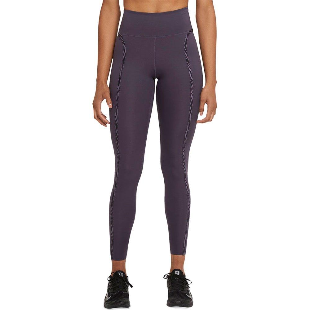 Nike Legging One Luxe Icon Clash L Dark Raisin / Black / Clear