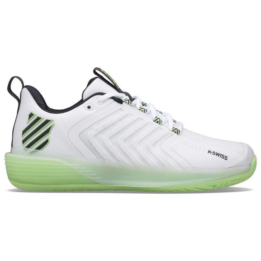 K-swiss Chaussures Terre Battue Ultrashot 3 EU 41 White / Soft Neon Green / Blue Graphite