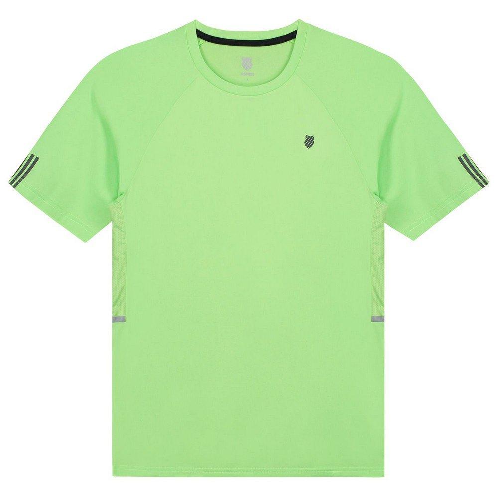 K-swiss T-shirt Manche Courte Hypercourt 2 L Soft Neon Green