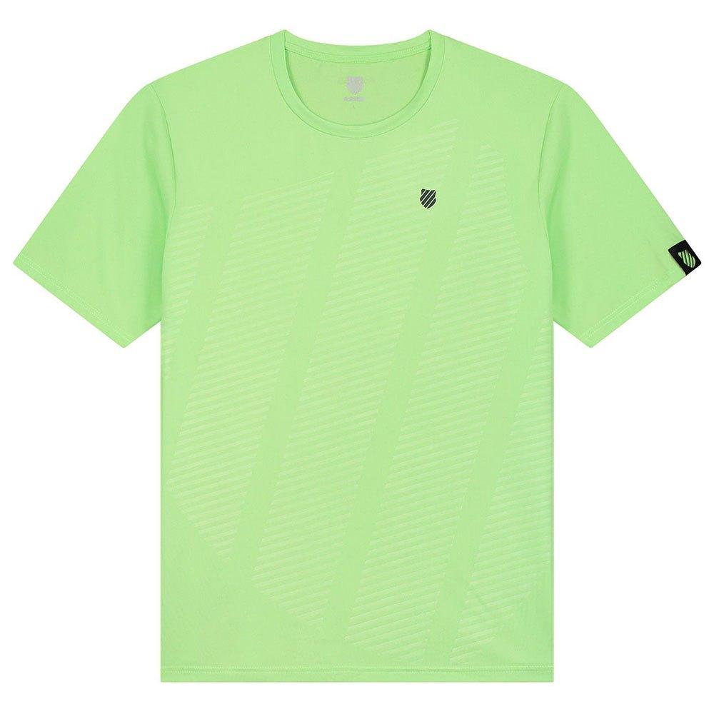 K-swiss T-shirt Manche Courte Hypercourt Shield L Soft Neon Green
