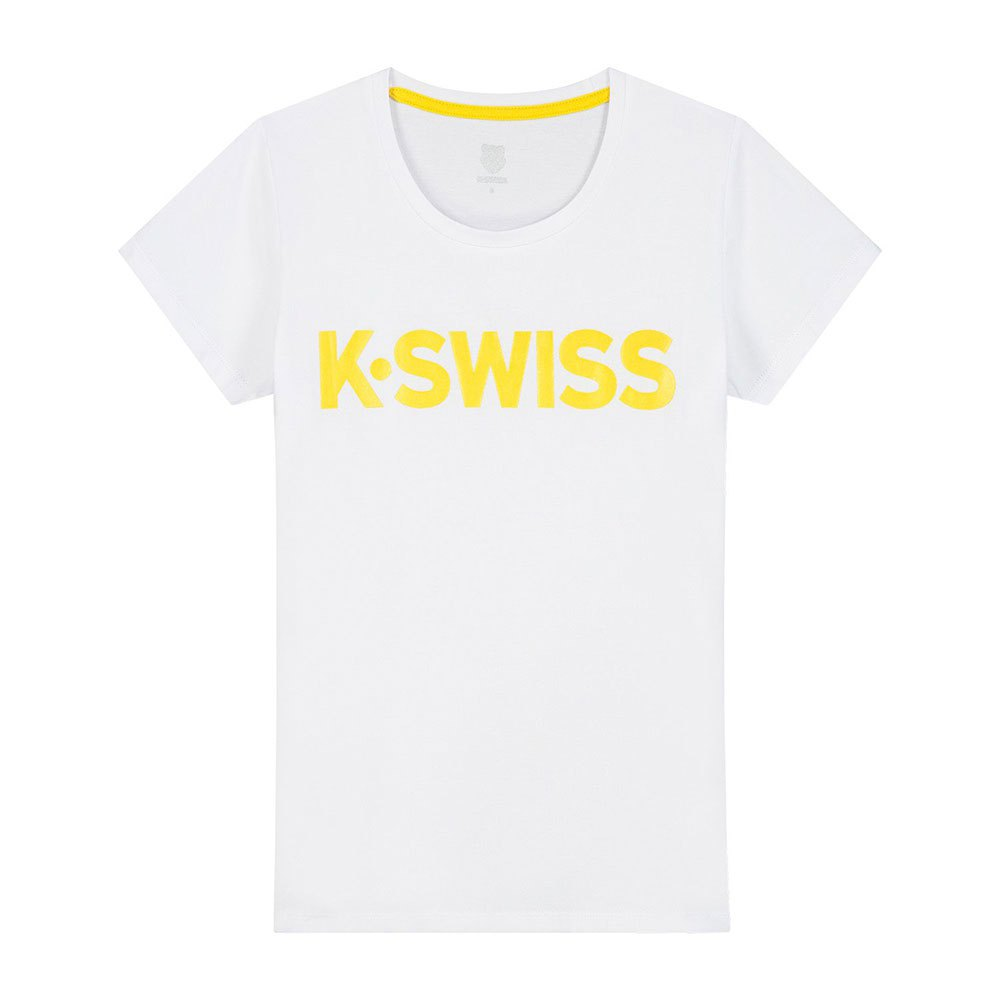 K-swiss T-shirt Manche Courte Hypercourt Logo S White