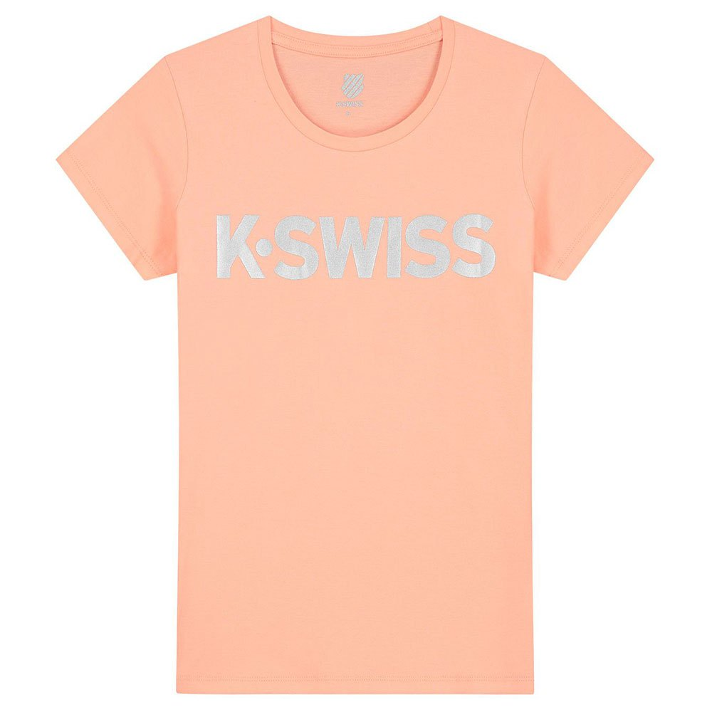 K-swiss T-shirt Manche Courte Hypercourt Logo S Peach