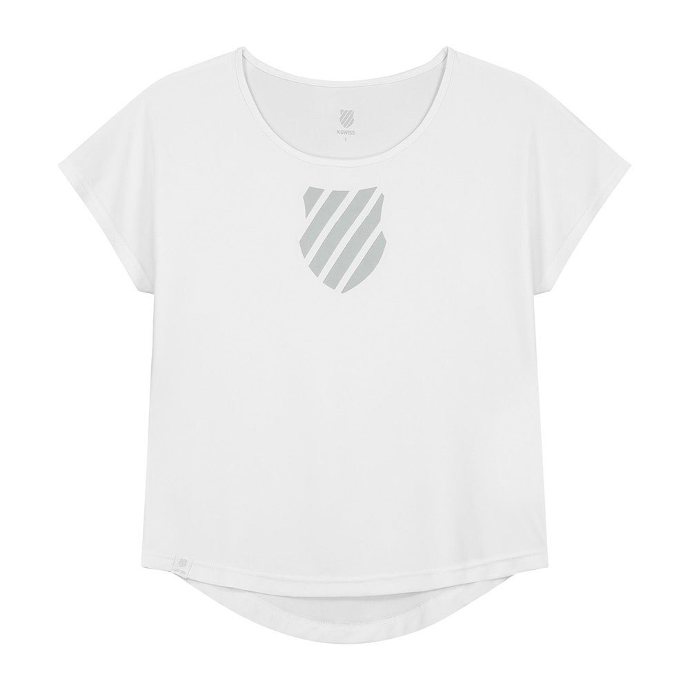 K-swiss T-shirt Manche Courte Hypercourt Game S White