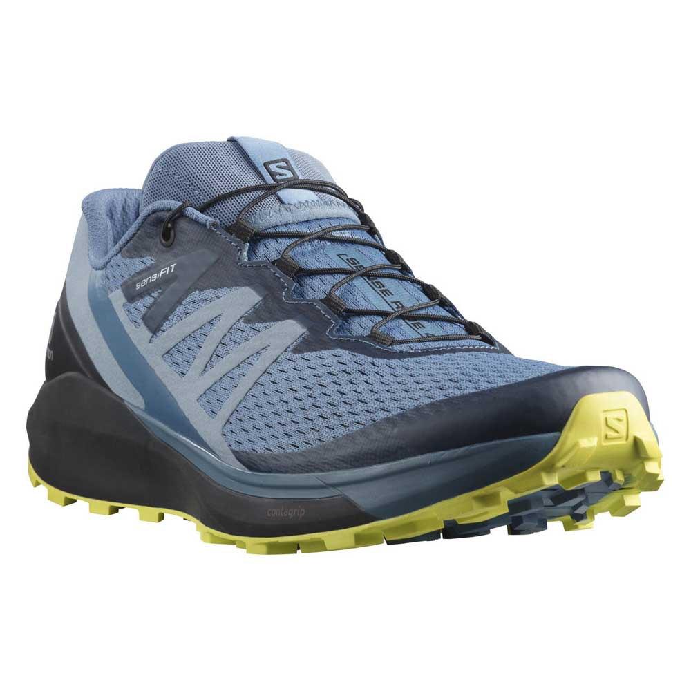 Salomon Zapatillas Trail Running Sense Ride 4 Copen Blue / Black / Evening Primrose