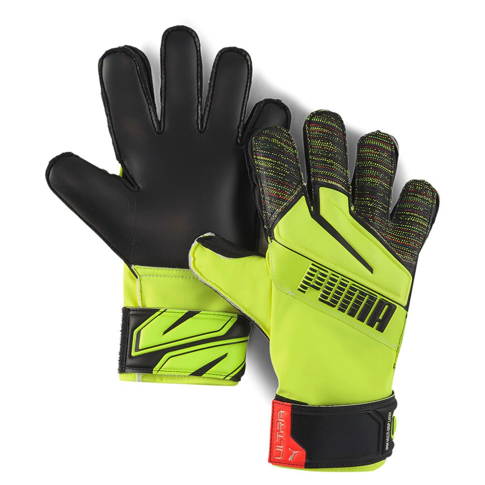 Puma Gants Gardien Ultra Protect 3 Rc Junior 5 Yellow Alert / Puma Black