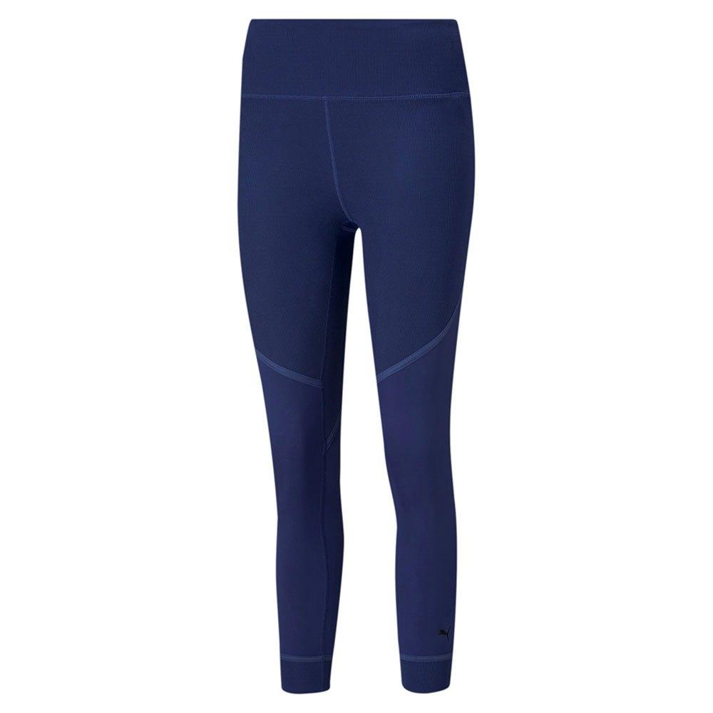 Puma Legging Studio Rib Taille Haute M Elektro Blue