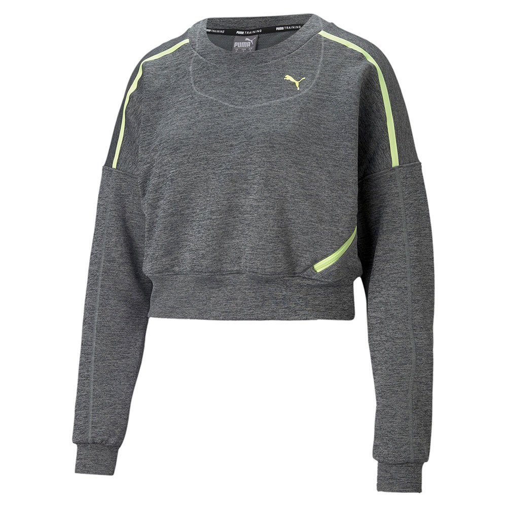 Puma Sweatshirt Crew L Charcoal Gray Heather