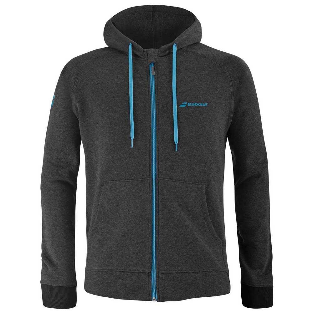 Babolat Exercise Full Zip Sweatshirt 10-12 Years Black Heather