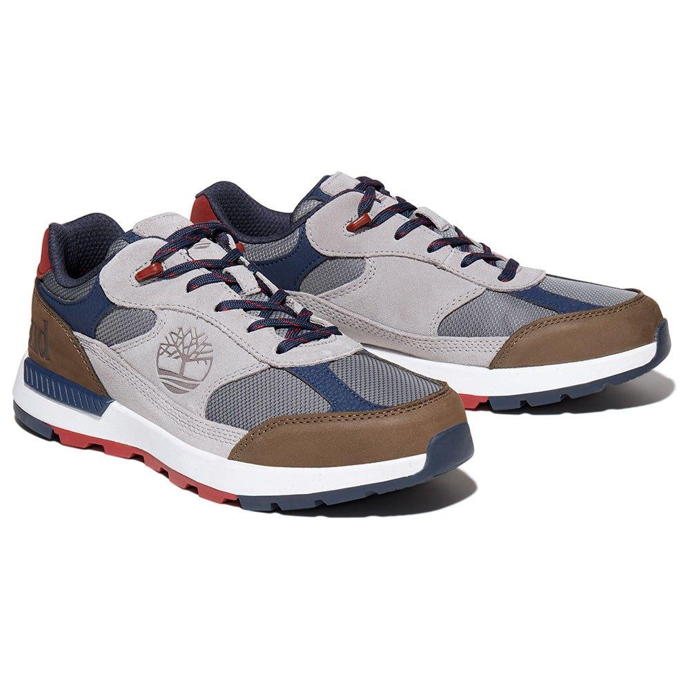 Timberland Field Trekker Low Fabric Leather Hiking Shoes EU 44 1/2 New Titanium