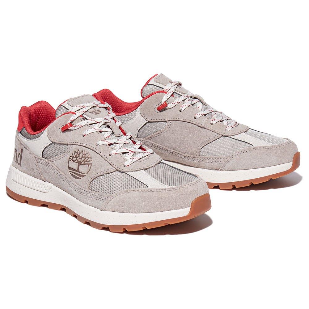 Timberland Field Trekker Low Fabric Leather Hiking Shoes EU 44 Aluminum