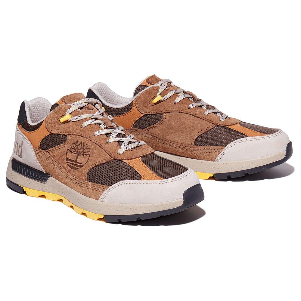 Timberland Field Trekker Low Fabric Leather Hiking Shoes EU 40 Sepia