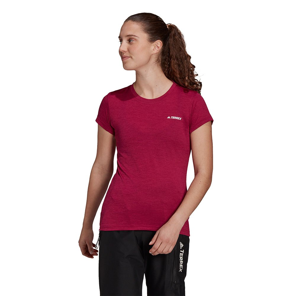 Adidas Terrex Tivid Short Sleeve T-shirt 40 Power Berry / White