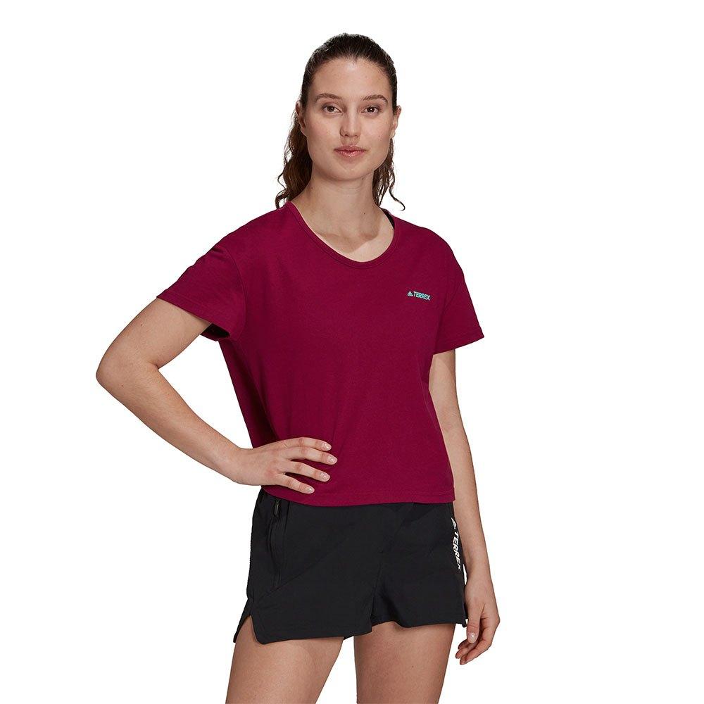 Adidas Terrex Better Cotton Only Carry Short Sleeve T-shirt L Power Berry