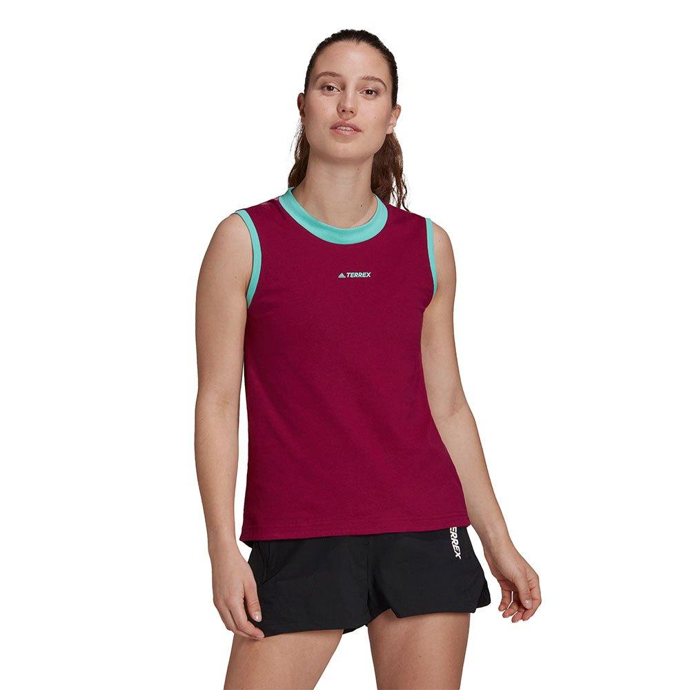 Adidas Terrex Better Cotton Graphic Braces T-shirt S Power Berry